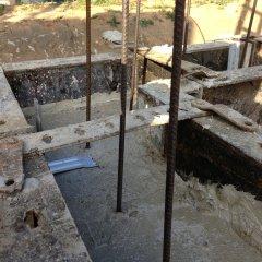 Detailansicht verschalter und gegossener Keller