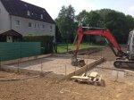 Einschalung für den Beton